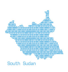 map south sudan vector image