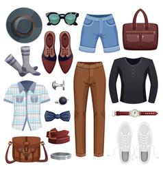 men accessories icon set vector image