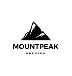 Mountain peak logo icon vector