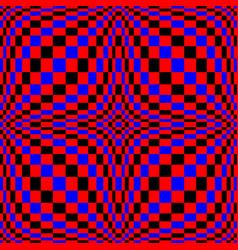Optical 3d art distortion vector