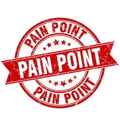 Pain point round grunge ribbon stamp vector