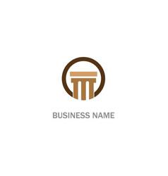 pilar construction company logo vector image