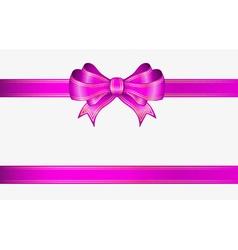 Pink ribbon and bow vector
