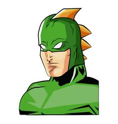 portrait super hero strong male justice symbol vector image