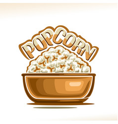 Poster for popcorn vector