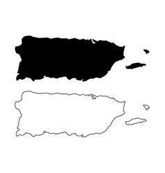 puerto rico map vector image