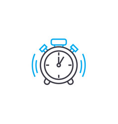 Punctuality thin line stroke icon vector