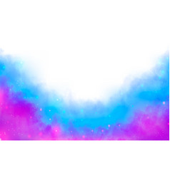 Purple and blue fantasy watercolor fog background vector