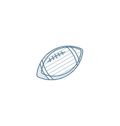 regby ball isometric icon 3d line art technical vector image