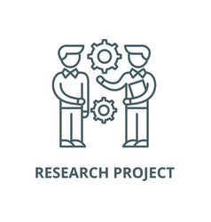 research project line icon linear concept vector image
