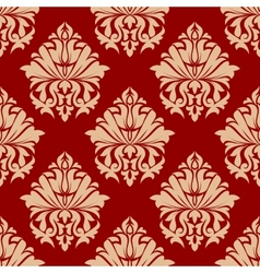 Retro damask style arabesque pattern vector