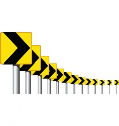 Road sign curve vector