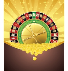 Roulette and golden coins vector