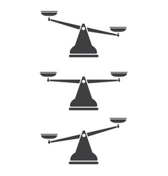 scales icon libra set design vector image