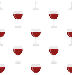 seamless pattern of glass for wine sangria vector image