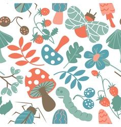 Seamless pattern with mushroom vector