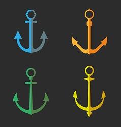 Set anchor symbols or logo vector