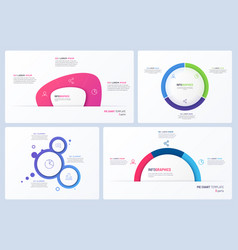 set minimal infographic templates 3 vector image