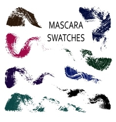Set of 8 flat mascara swatches vector
