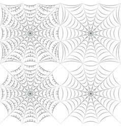 Set of patterns with spider web and drops vector