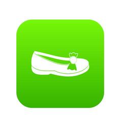 Shoe icon digital green vector