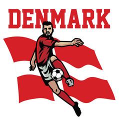 Soccer player of denmark vector