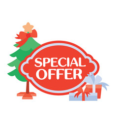 Special offer sticker for christmas sale vector
