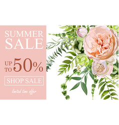 Summer sale banner poster background with pink vector