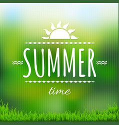 summer time banner with grass vector image