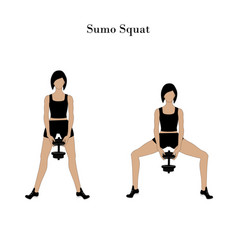 Sumo squat exercise workout vector