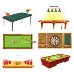 table games concept and different sporting vector image