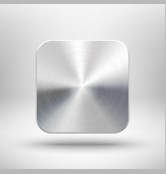 Technology app icon with metal texture for ui vector image