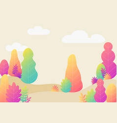 trendy fantasy background with plants modern with vector image