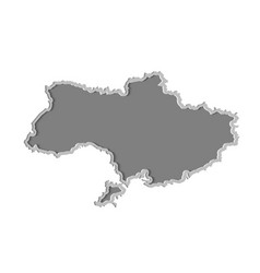ukraine map paper cut country isolated on a vector image