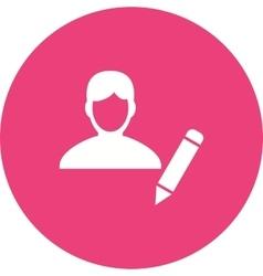 Update Male Profile vector