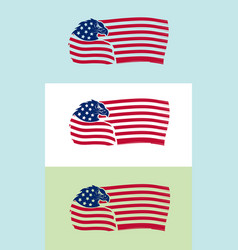 us flag with eagle on various backgrounds vector image