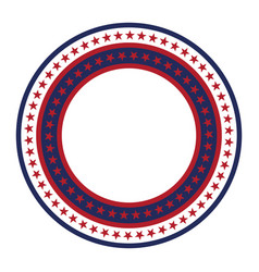 usa star pattern round frame american vector image