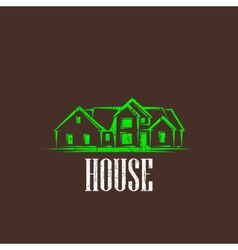 vintage with a house real estate sign vector image