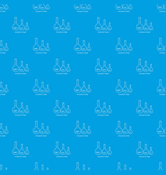 volumetric flask pattern seamless blue vector image