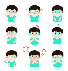 xavariety boy face expression vector image