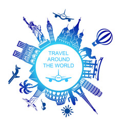 a symbol travels around the world vector image
