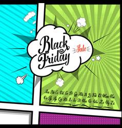 black friday sale handmade font alphabet written vector image