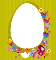 easter card with retro frame vector image vector image
