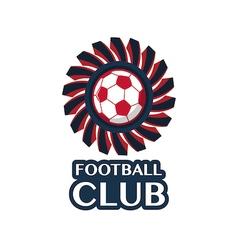 football Badge 5 vector image vector image