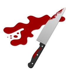 knife with blood vector image