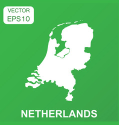 netherlands map icon business concept netherlands vector image
