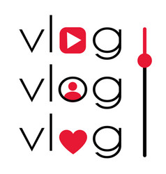vlog video blogging logo vector image