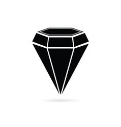 diamond jewel black vector image vector image