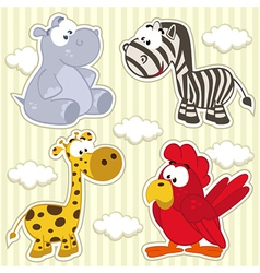 icon set animal vector image