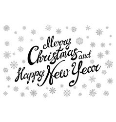 Merry christmas and happy new year typographical vector